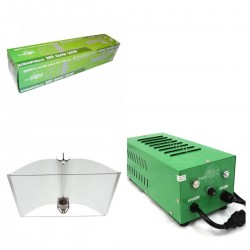 KIT BALASTRO PURE LIGHT V2 600W + ADJUST-A-WINGS® ENFORCER MEDIUM + PURE LIGHT MH 600W GROW,(HM)