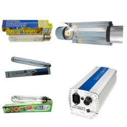 KIT 400W GAVITA CON COOLTUBE 125MM Y PURE LIGHT MH 400 W GROW,(HM)