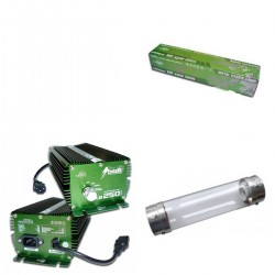 KIT 250W BOLT + COOLTUBE 125MM + PURE LIGHT MH 250 W GROW (HM)